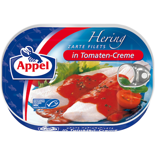 Appel Hering Zarte Filets in Tomaten-Creme MSC Bild 1