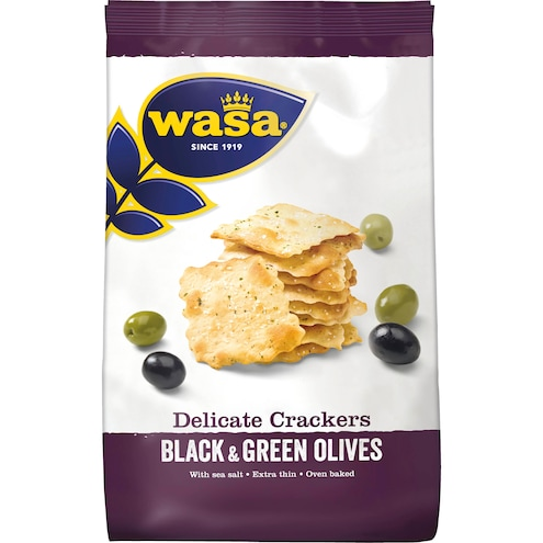 Wasa Delicate Thin Crackers Black & Green Olives Bild 1