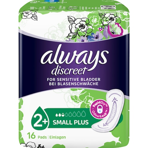 Always Discreet Inkontinenz Hygieneeinlagen small plus