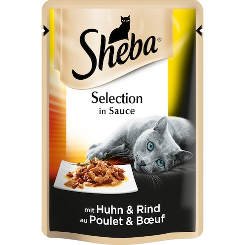 Sheba Delikates Duo in Sauce mit Huhn & Rind