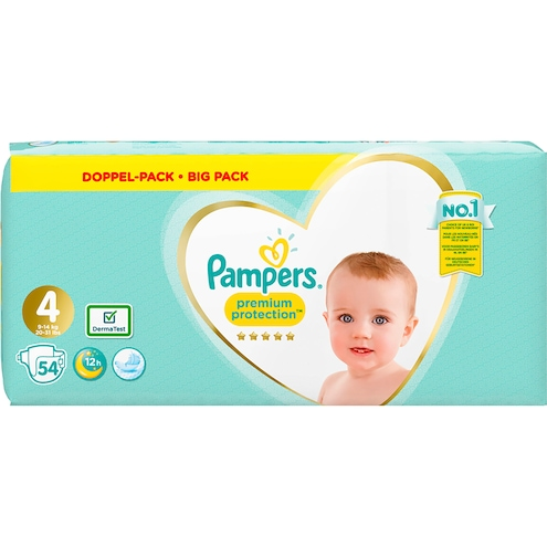 Pampers Premium Protection Windeln Gr.4 9-14kg Jumbopack