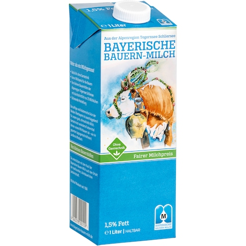 Oberland Milch, 1,5 % Fett