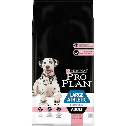 PURINA PRO PLAN Dog Large Athletic Adult Sensitive Skin OPTIDERMA reich an Lachs Trockenfutter Beutel Bild 1