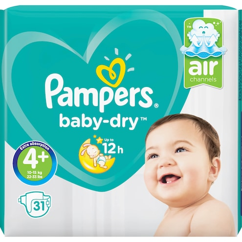 Pampers baby-dry 9-18 kg Maxi+ Bild 1