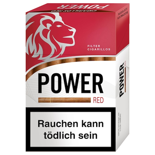 Power Red Filter Cigarillos