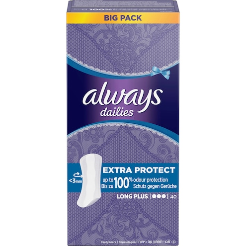 Always Extra Protect Long Plus Slipeinlagen Vorteilspack