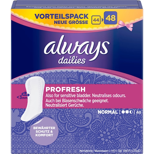 Always ProFresh Normal Slipeinlagen Vorteilspack 48 Stück