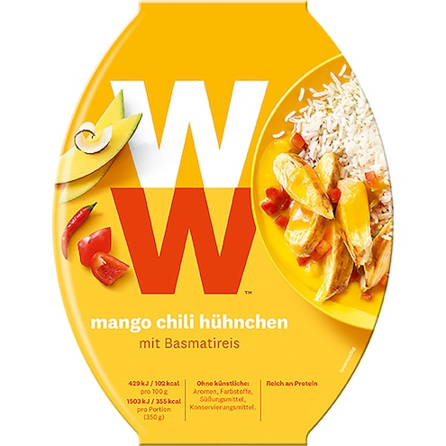 Weight Watchers Mango-Chili Hühnchen mit Basmatireis