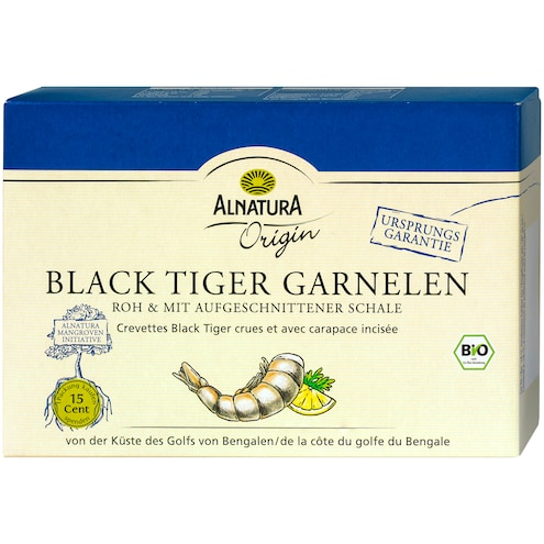 Bio Alnatura Origin Black Tiger Garnelen
