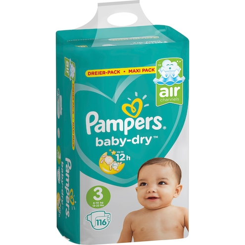 Pampers baby-dry Midi Windeln Gr.3 6-10kg