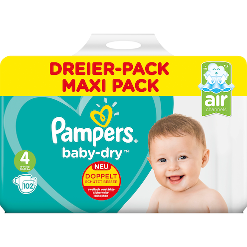 Pampers baby-dry Maxi Windeln Gr.4 9-14kg
