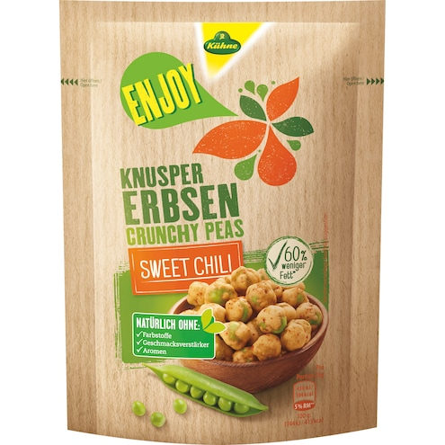 Kühne Enjoy Knusper-Erbsen Sweet Chili