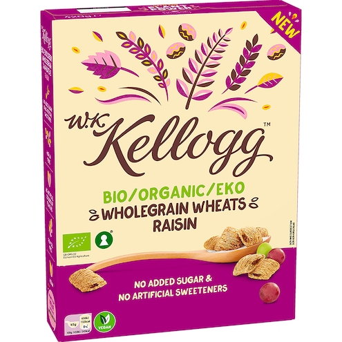 W.K.Kellogg Bio Wholegrain Wheats Raisin