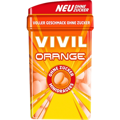 Vivil Minidrops Orange ohne Zucker
