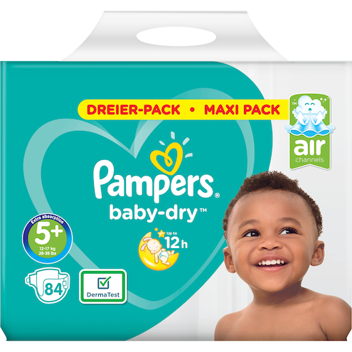 Pampers baby-dry Junior Windeln Gr.5+ 12-17kg