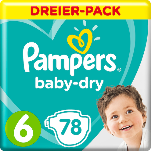 Pampers baby-dry Extra Large Windeln Gr.6 13-18kg