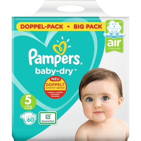Pampers baby-dry Junior Windeln Gr.5 11-16kg Doppelpack