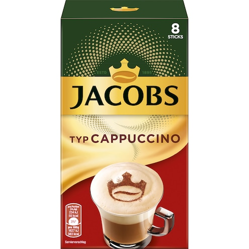 Jacobs Cappuccino Instant Kaffee Sticks