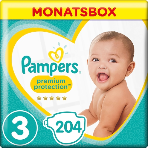 Pampers Premium Protection Midi Windeln Gr.3 6-10kg Monatsbox