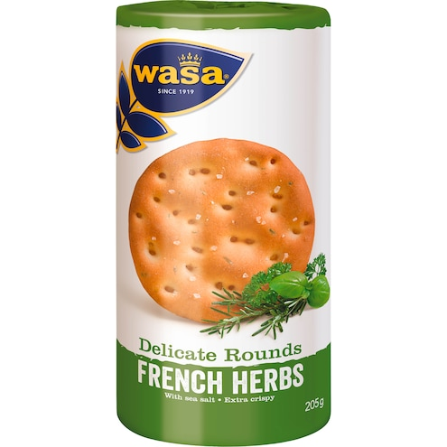 Wasa Delicate Tasty Rounds French Herbs