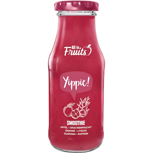 All in Fruits Smoothie Yippie Apfel Drachenfrucht Litschi Guarana