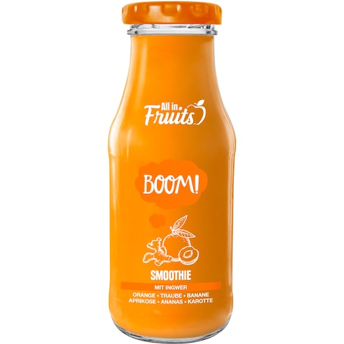 All in Fruits Smoothie Boom Orange Aprikose Ananas Ingwer