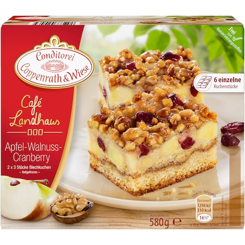 Coppenrath & Wiese Cafe Landhaus Apfel-Walnuss-Cranberry Kuchen