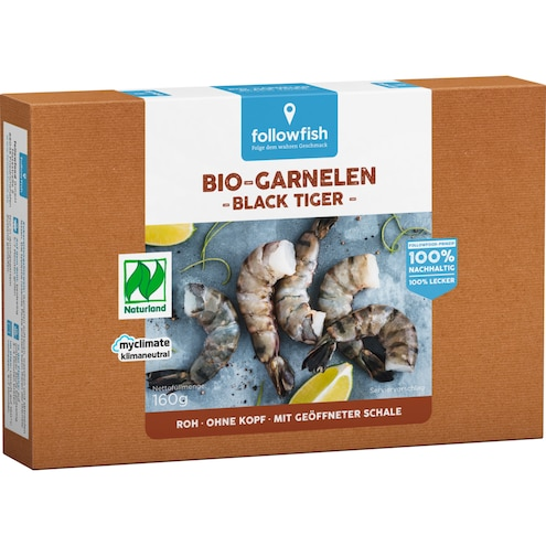 Followfish Bio Black Tiger Garnelen netto Bild 1